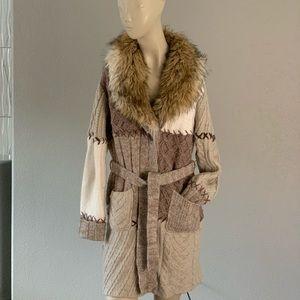 $30‼️Chico's fur cardigan